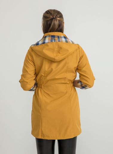 Foremia Bonding Uzun Yağmurluk Şapkalı Sarı